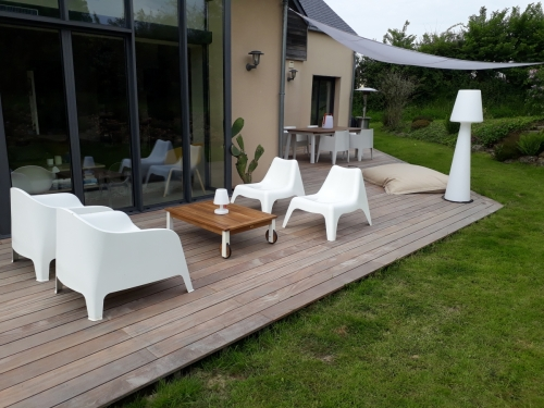 Réalisation d'une terrasse en bois exotique CUMARU