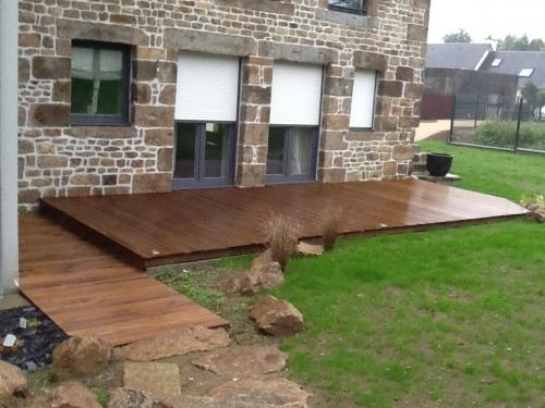 Réalisation d'une terrasse en IPE
